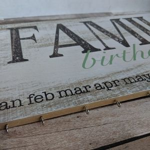 Other - Wall hanging birthday calendar with hanging tags
